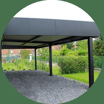 carport aluminium sur mesure newtech fermetures. Black Bedroom Furniture Sets. Home Design Ideas